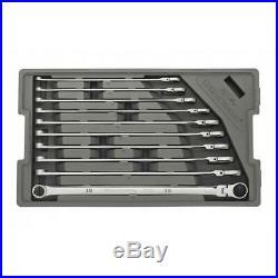 120XP Universal Spline XL Flex Head Gearbox Ratcheting Metric Wrench 10 Piece