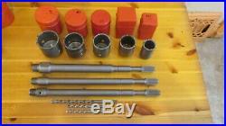 2 1/2, 2 1/4, 2, 1 1/2 Concrete Core Drill Bit Spline 5 Pc