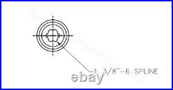 3-Point Tiller PTO Shaft with 2 disc Slip Clutch 1-3/8 6 spline
