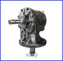 40HP Gearbox 1-3/8 6 Spline Input & 12 Spline Output Shaft For 4' & 5' Cutters