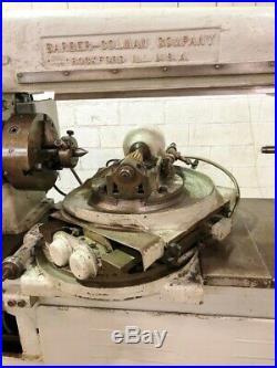 Barber Coleman #type T Taper Spline Hobbing Machine