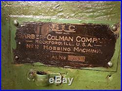 Barber Colman No 12 Type A Hob Spline Cutting