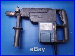 Bosch 11220evs Corded Electric 1-1/2 Spline Hammer Drill With Case & Chisel Bit