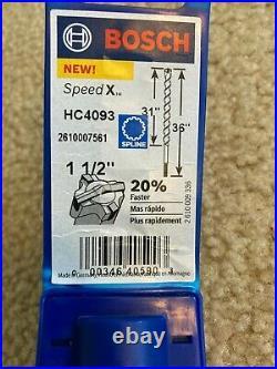 Bosch HC4093 1-1/2 in. X 36 in Speed X spline Rotary Hammer Drill Bit concrete