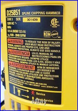 DEWALT D25851K 12-Pound Spline Demolition Hammer, New