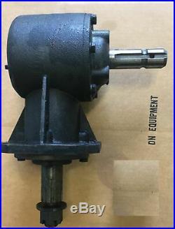 Gear Box for Rotary Cutter 45 hp Gear Box 1 3/8 X 6 Spline Input Shaft New