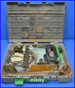 HITACHI DH38YE2 Corded Spline Shank Rotary Hammer Drill 1-1/2 Case & (4) Bits