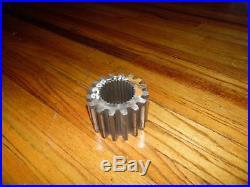 HYDRA-MAC SKID STEER LOADER splined SHAFT GEAR 2300-116 HYDRAMAC