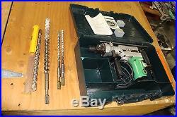 Hitachi DH38YE2 1-1/2 Inch Spline Shank Rotary Hammer EXTRA BITS