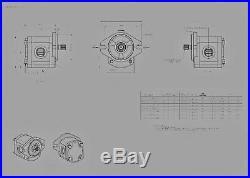 Hydraulic Gear Pump, 12cc/rev, 9.4 gpm @3000rpm, 3625psi, Spline Shaft, SAE A, Side