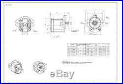 Hydraulic Gear Pump, 12cc/rev, 9.5 gpm@3000rpm, 3625psi, Spline Shaft, SAE A, RearPort