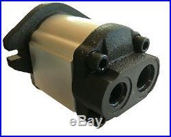 Hydraulic Gear Pump, 25cc/rev, 19.8gpm@3000rpm, 3625psi, Spline Shaft, SAE A, RearPort