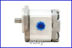 Hydraulic Gear Pump 4-12 GPM 9 Tooth Spline Shaft SAE A-2 Bolts CW Aluminium