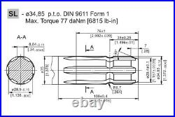 Hydraulic Motor MS 250 CC/REV 6 Splined PTO Shaft 34,85 Side Ports 1/2 BSP
