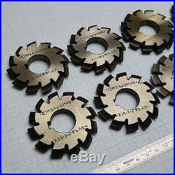 Involute Gear Cutter Set M2.5 PA20° HSS (1-8) Spline Modulfräser Zahnradfräser