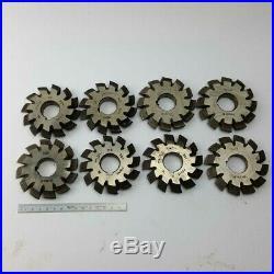 Involute Gear Cutter Set M4.25 PA20° HSS (1-8) Bevel Spline Modulfräser Satz