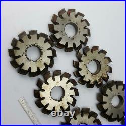 Involute Gear Cutter Set M4 PA20° HSS (1-8) Bevel Spline Modulfräser Satz