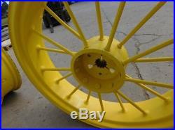 John Deere A Tractor Rare 38 Inch 12 Spline Round Spoke Rear Rims Hc391g 00664