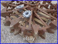 John Deere unstyled A skeleton steel wheels with 10 spline hubs