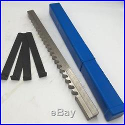 Keyway Broach 5/8 E Push Type HSS Inch Size & Shim Involute Spline Cutter