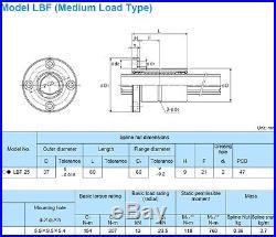 LBF25UU+590mm Used Ball Spline THK NSK NB IKO Linear Bearing CNC Route LM