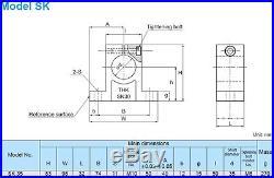 LBH50+556mm THK Used Ball Spline SK35 Shaft Support Heavy duty Linear Bearing