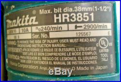(MA2) Makita HR3851 10 Amp 1-1/2 Spline Rotary Hammer