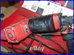MILWAUKEE THUNDERBOLT 1-1/2 SPLINE ROTARY HAMMER DRILL with BITS, CHISELS & CASE