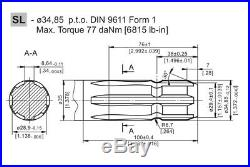 M+S Hydraulic Motor MS 100 CC/REV Shaft 6 Splined PTO 34,85 Side Ports 1/2 BSP