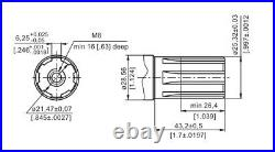 M+S Hydraulic Orbital Motor MP 50 cc/rev Splined Shaft 6B Side Ports G1/2
