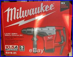Milwaukee 5316-21 NEW 10.5 Amp Corded 1-9/16 in. Spline Rotary Hammer Kit