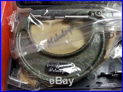 Mitutoyo 111-166 spline type outside micrometer 0-1.0001 vernier vintage