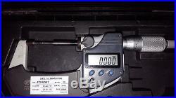 Mitutoyo 331-351 digimatic coolant proof digital spline micrometer 0-1/ 0-25mm