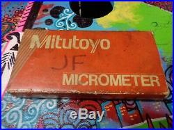 Mitutoyo Spline Outside Micrometer 0-1 111-166