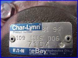 New Genuine Eaton Char-lynn 4000 series hydraulic motor 109-1116-006 splined