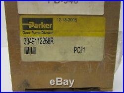 Parker 3349112268R Hydraulic Gear Pump 9T Spline 5/8 11cc 275bar 500-3500rpm