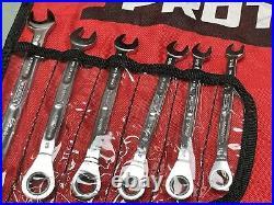 Proto 18pc Spline Ratcheting Combination Wrench Set Jscv-18sa Sae