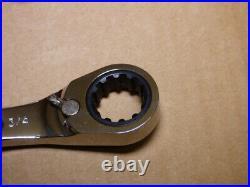 Proto JSCV-11SA Spline Combination Reversible Ratcheting Wrench Set 11pc SAE