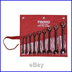 Proto JSCV-9S 9 Piece SAE Reverse Combination Ratcheting Spline Wrench Set