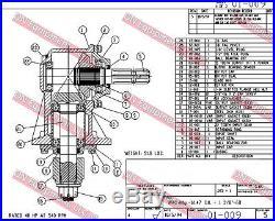 Replacement Rotary Cutter 45 Hp Gear Box 1 3 8 X 6 Spline