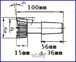 Shaper Cutters Involute Splines M3 Z-12 PA30 HSS USSR Shank Type Shaper Cutter