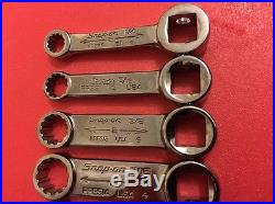 Snap On 11pcs 3/8-1/2 Drive Torque Spline Adapter Set 1/4-7/8. NO RESERVE