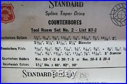 Standard Tool Co. Spline Taper Drive Counterbore Set