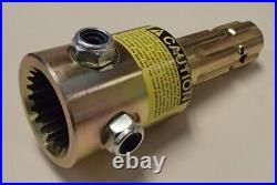 T90 PTO Adaptor 6 Spline Clamp Style 1 3/4 20 Spline to 1 3/8