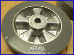 Tennant Nobles 1015079 Lot of (2) 198mm Wheels with Spline for Floor Scrubber
